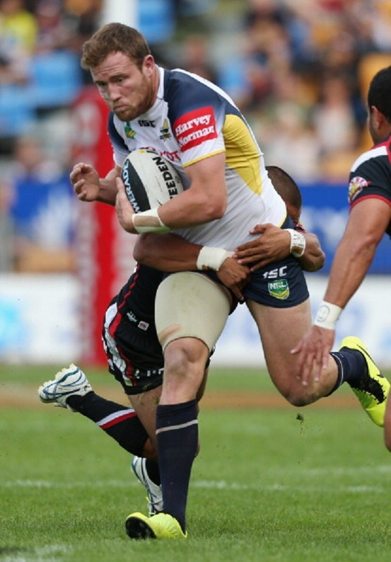 Gavin Cooper of the Cowboys in action during the round four NRL match between the New Zealand Warriors and the North Queensland Cowboys at Mt Smart Stadium on 1 April 2013 in Auckland, NZ