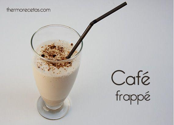 Café frappé # Un café helado cubierto de espuma, suave y cremoso. Mmhhh... ¿No os apetece? Pues lo podemos hace en unos minutos con Thermomix. Y queda... riquísimo.  Si os gustó nuestro café granizado, animaos a probar esta variedad. …