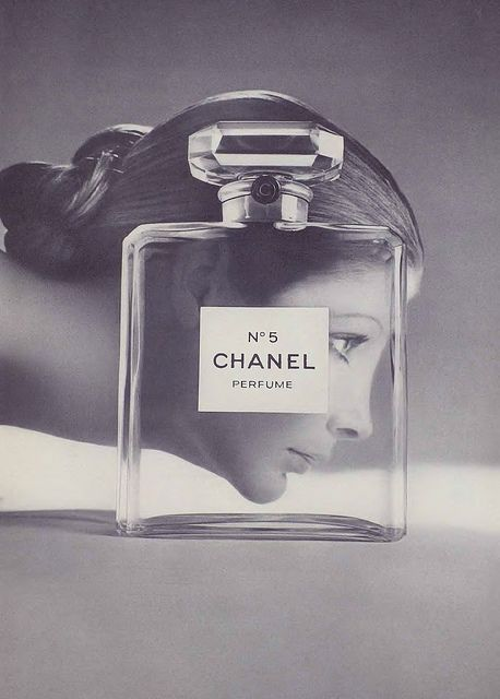 Chanel perfumes and bottles.