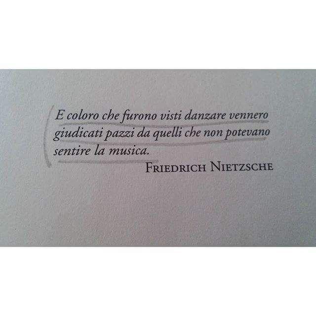"""""""Quelli che ballavano erano visti come pazzi da quelli che non sentivano la musica"""" Nietzsche www.gruppiaici.blogspot.com"""