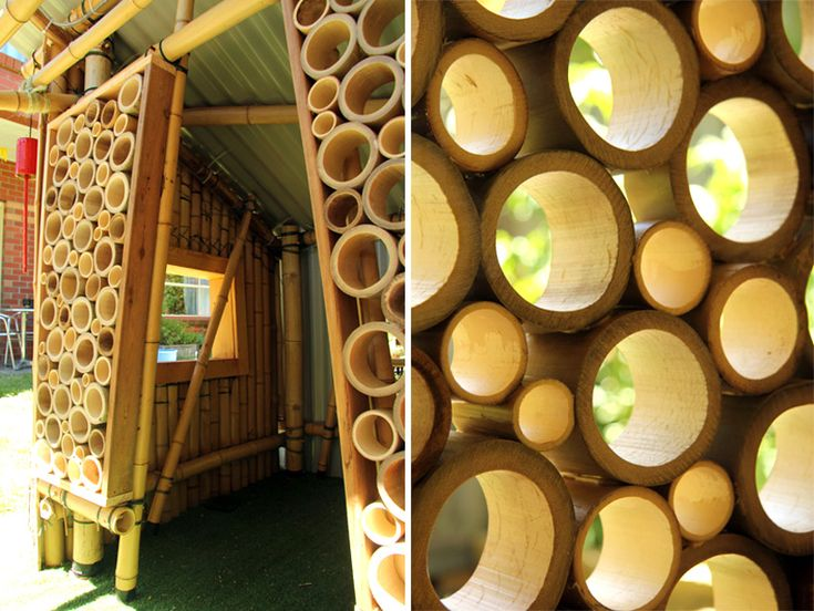 giant grass bamboo cubby house