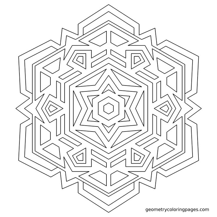 """Snowflake"" Adult Coloring Pages Pinterest Snowflakes"