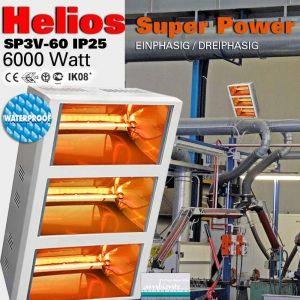 Infrarot Heizstrahler Helios Titan SP3V 6000 Watt