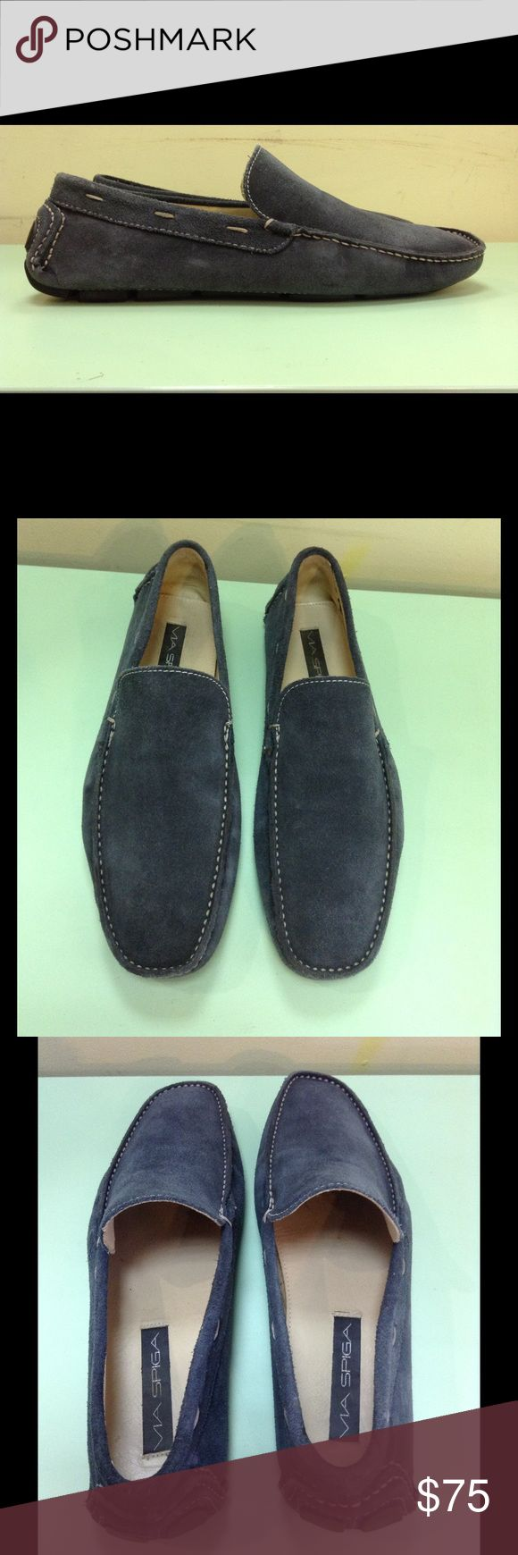 Via Spiga Loafers for Men Greyish, suede. In Excellent used condition! 😘👍 Via Spiga Shoes