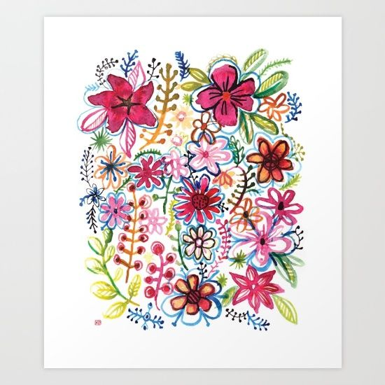 Misty+meadow+Art+Print+by+Pani+Grafik+-+$19.00