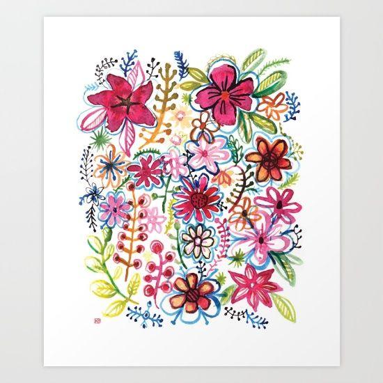 Misty+meadow+Art+Print+by+Pani+Grafik+-+$19.00