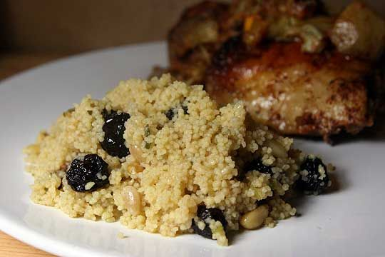 Couscous with Sour Cherries and Pine Nuts #thekitchn