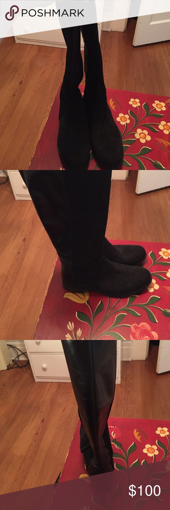 Butter black boots Suede black boots. Less than a year old. Great condition. Butter Shoes Shoes Winter & Rain Boots