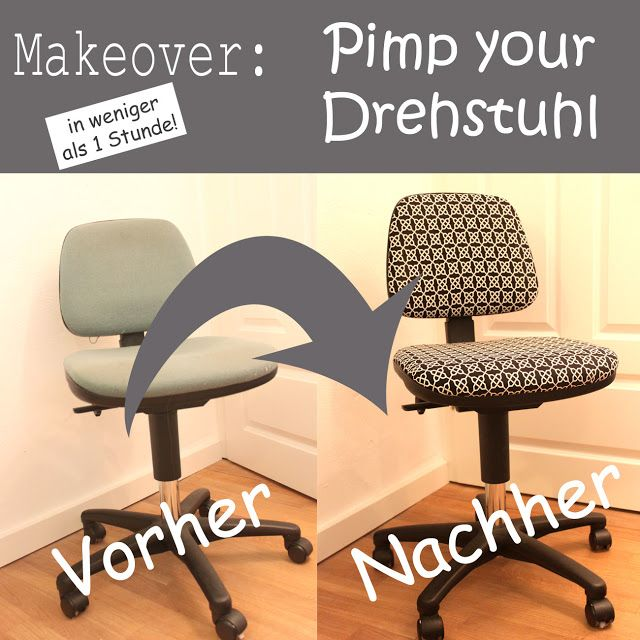 Drehstuhl neu beziehen / Redesigning your chair / Upcycling