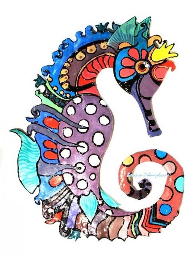 Морской конек (лепка и роспись) - Ярмарка Мастеров - ручная работа, handmade