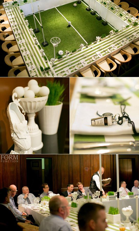 Form Over Function - corporate event styling. Sports Event, Golf themed, green…