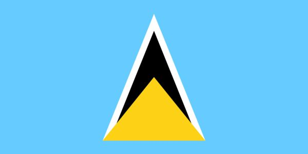 St. Lucia Country Flag