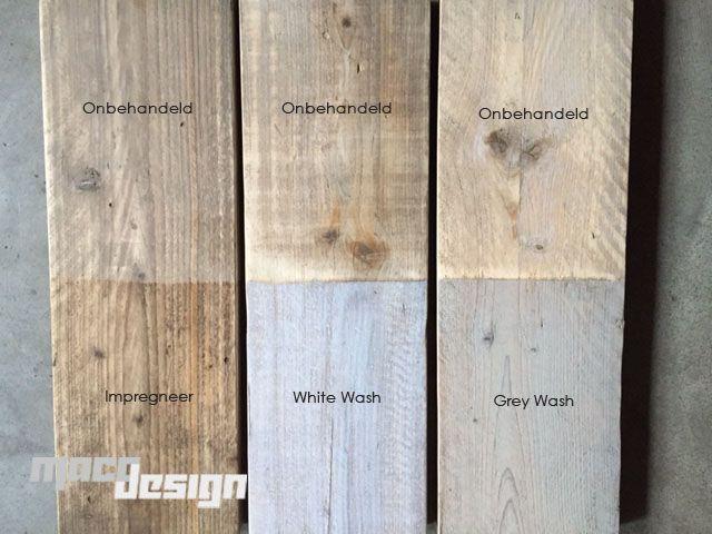 Steigerhoutbeits, kleur: Grey Wash - Maco Design