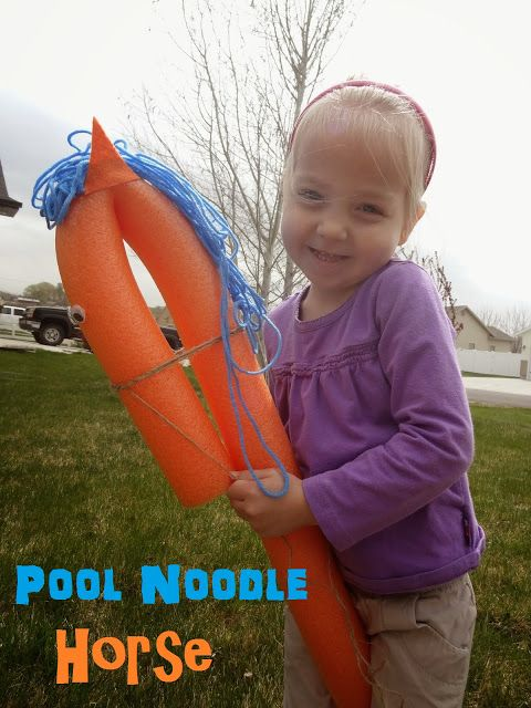 Pool Noodle Horse DIY and Game | Lessons From Our Life