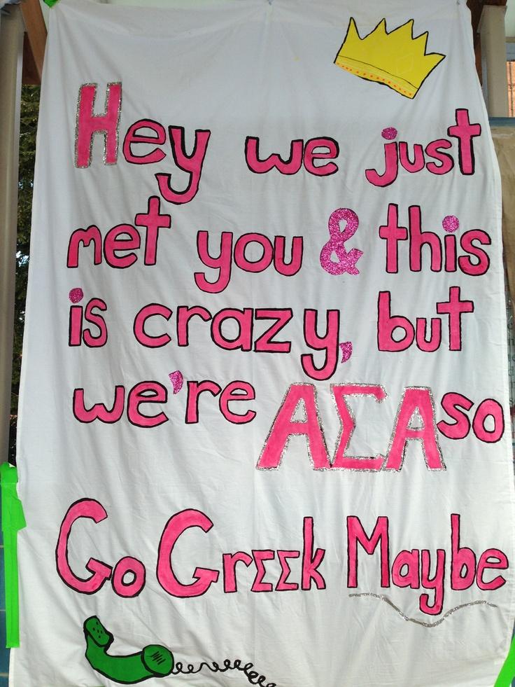 Sorority Recruitment Banner ASA Alpha Sigma Alpha Call Me Maybe