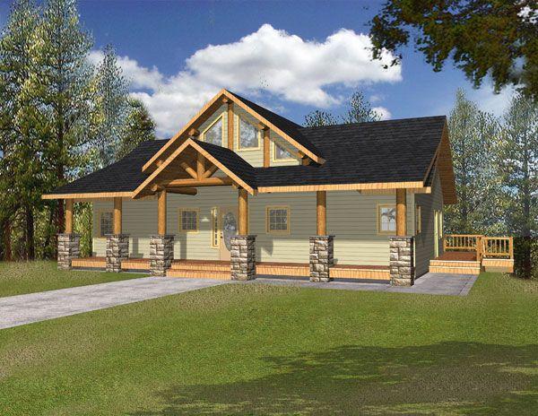 Log Cabin House Plan chp-33939 at COOLhouseplans.com