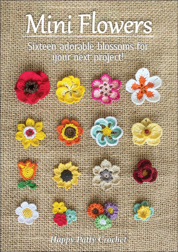 The e-book includes patterns for small Moth Orchid, Rose, Poppy, Gerbera, Plumeria, Sunflower, Buttercup and many more | Fabric-y