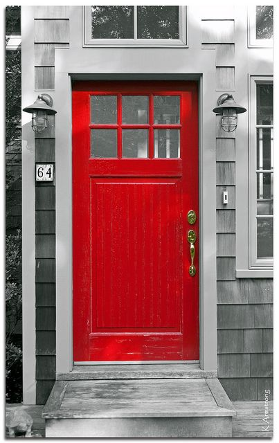 Salaberry de valleyfield red front doors grey and i am for Cape cod front door
