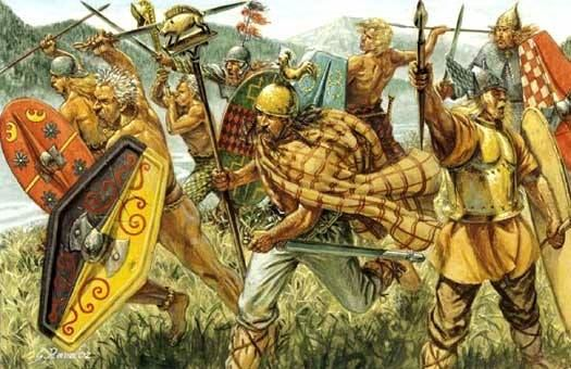 Celtic Tribes of the Alps charge into Battle.