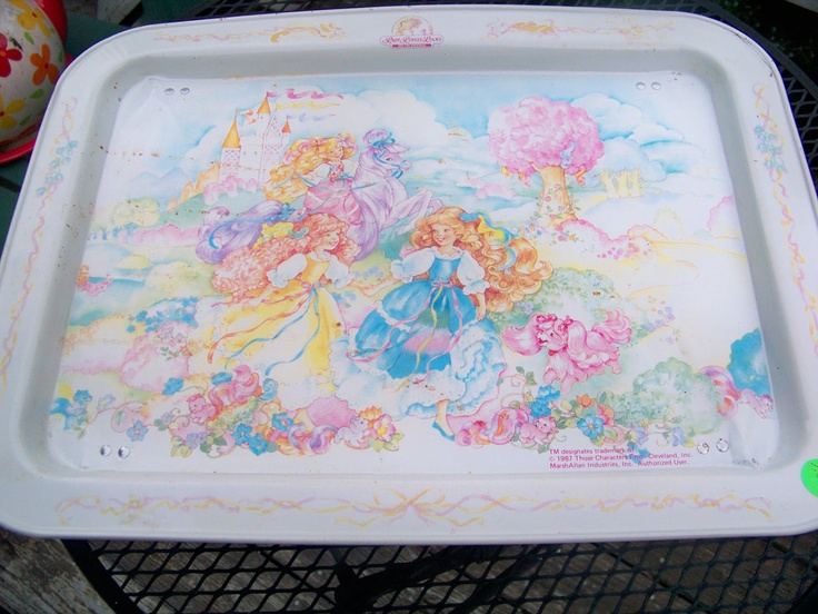 I used to use this tray to hold all of my Lady Lovely Locks hair clip-ins while I brushed their hair. :)