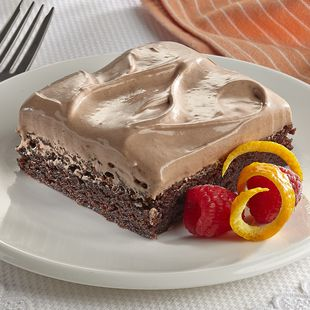 Orange Milk Chocolate Mousse Brownie: Give a mouse a brownie, and he'll ask for his with chocolate mousse and orange cream!