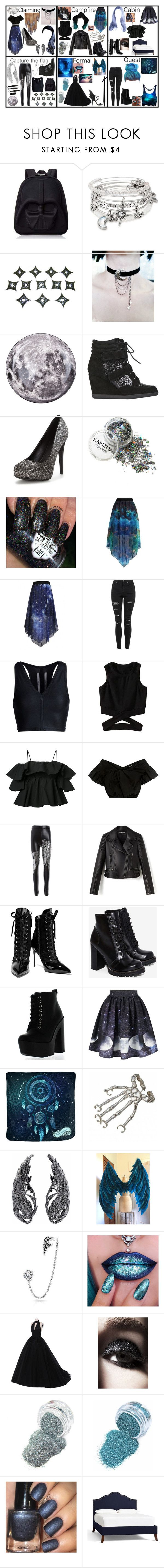"""""""Luna"""" by nanixmc ❤ liked on Polyvore featuring Loungefly, Alex and Ani, Seletti, Carvela, WithChic, Topshop, Rick Owens, MSGM, Rachel Comey and Giuseppe Zanotti"""