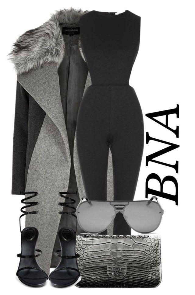 BNA by deborahsauveur on Polyvore featuring polyvore fashion style River Island Topshop René Caovilla Quay Chanel clothing