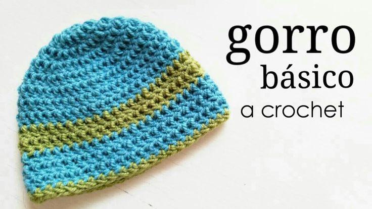 Gorro Básico a Crochet - TODAS LAS TALLAS | How to crochet a basic beani...
