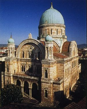 The great synagogue in Florence, Italy