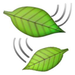 🍃 Leaf Fluttering in Wind Emoji (U+1F343/U+E447)