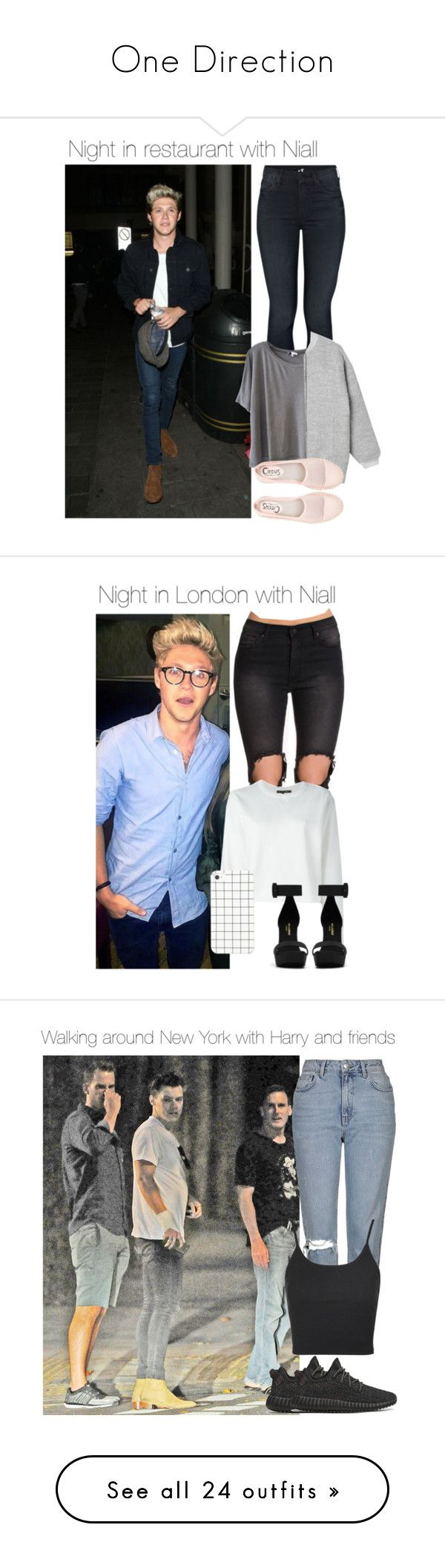 """""""One Direction"""" by bedifferent-y ❤ liked on Polyvore featuring Mother, Clu, Monki, Circus by Sam Edelman, UNIF, rag & bone, Yves Saint Laurent, Topshop, adidas Originals and Payne"""