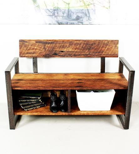 Recuperada Bench almacenamiento de madera | Mueble de casa | Qué Hacemos | Scoutmob Shoppe | Detalles del producto