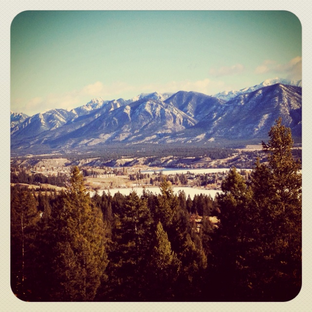 Admiring the view from Invermere, BC.