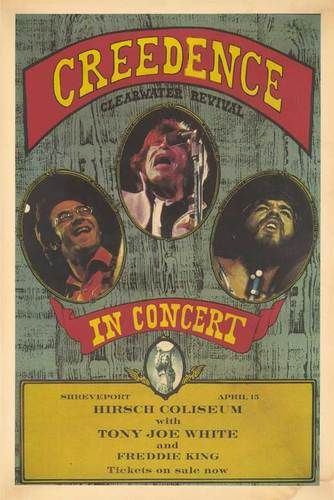 Creedence Clearwater Revival 1972 Concert Poster, LA