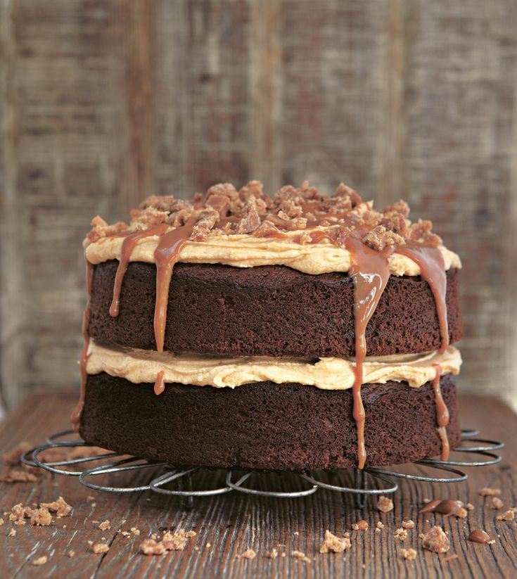 Sticky toffee pudding in a cake – need we say more? To serve as a pudding, warm the caramel for the topping gently to create a hot toffee sauce – serve with scoops of good-quality vanilla ice cream. http://thehappyfoodie.co.uk/recipes/gloriously-sticky-toffee-cake