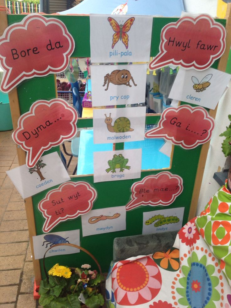 Welsh second language outdoor provision reception eyfs