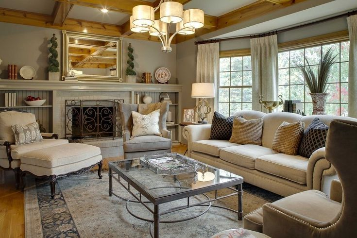 Mirrors above fireplace living room traditional with french door