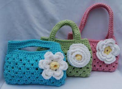 little girl's crocheted purse
