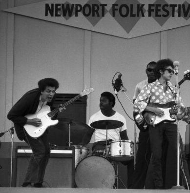 Newport Folk 1965  mike bloomfield bob dylan sam lay paul butterfield blues