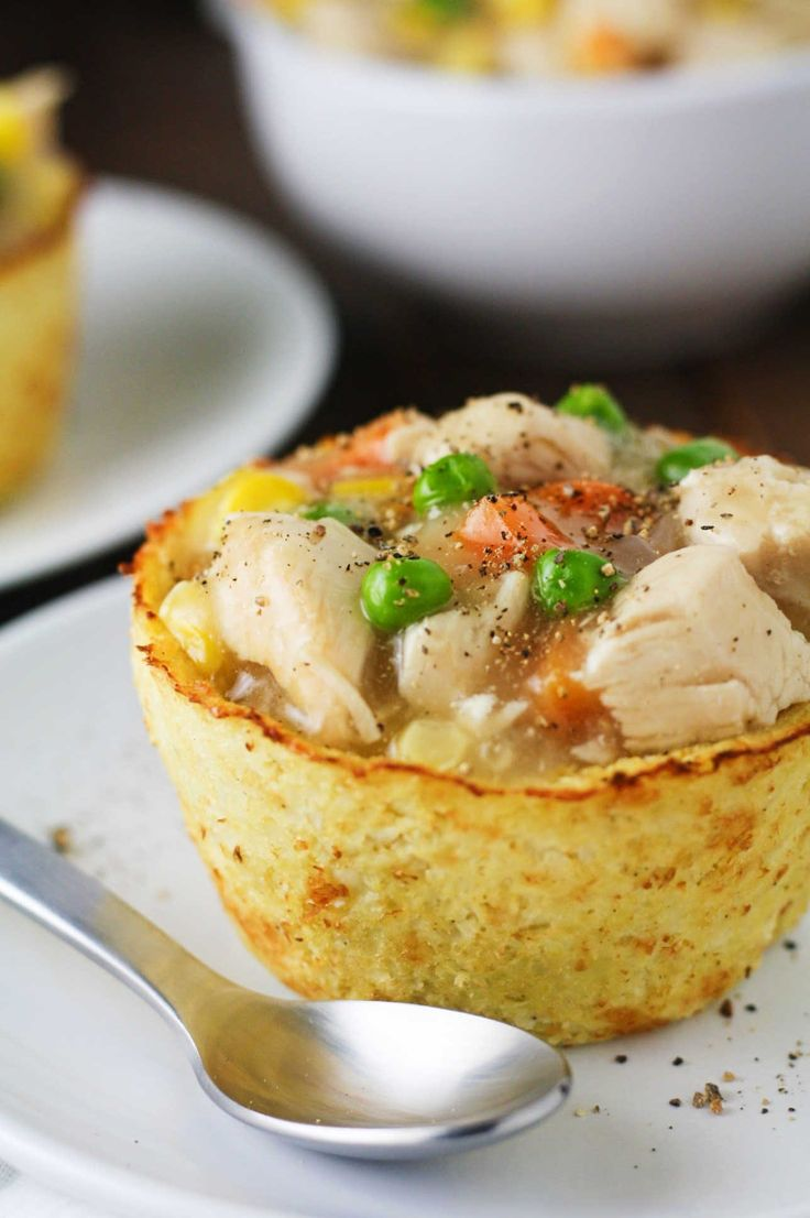 Try these Low Carb Chicken Pot Pies made with a cauliflower base. They are entirely gluten free, low in calories and high in flavor!