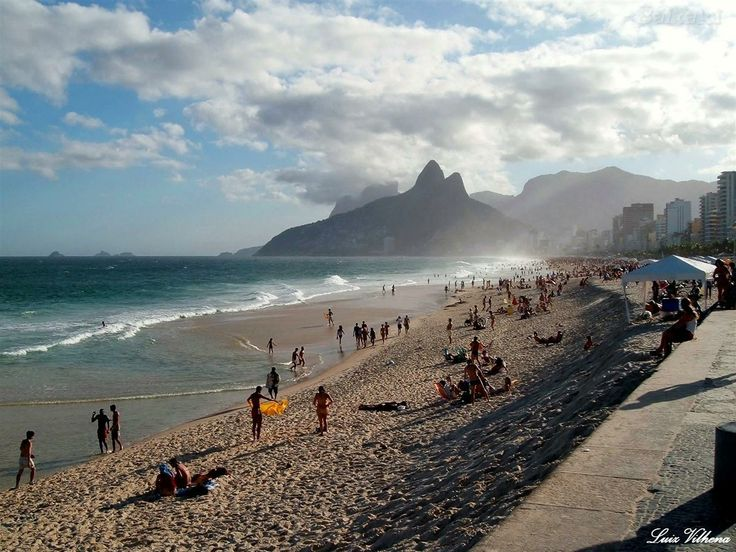 --- PRAIA DE IPANEMA --- One long stretch of sand, Ipanema Beach is marked by postos (posts)