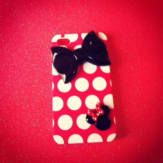 iPhone 4 and iPhone 4S Disney Minnie Mouse Red Polka Dot by VD5555