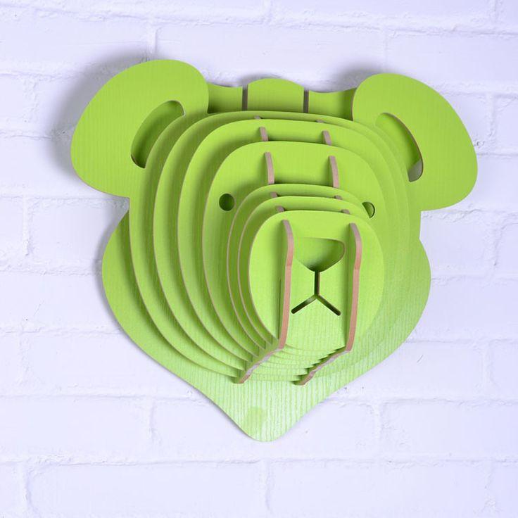 плюшевый мишка голову, DIY деревянные ремесла для украшения стены гостиной, новизна предметов, домашнее украшение, декоративные предметы, хорошее дерево