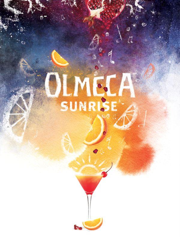 Key-visual for olmeca sunrise promo on Behance