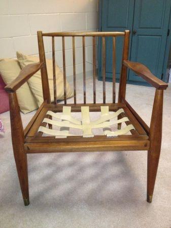Delightful Indianapolis: Tell City Danish Walnut Chair   Mid Century Style $500   Http: