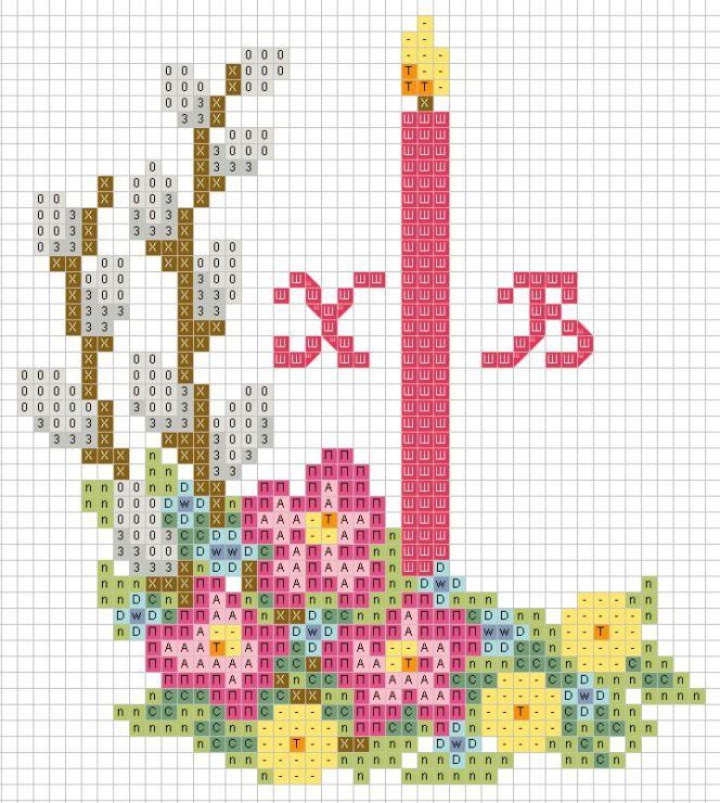 Вышивка крестом схемы картинки на пасху