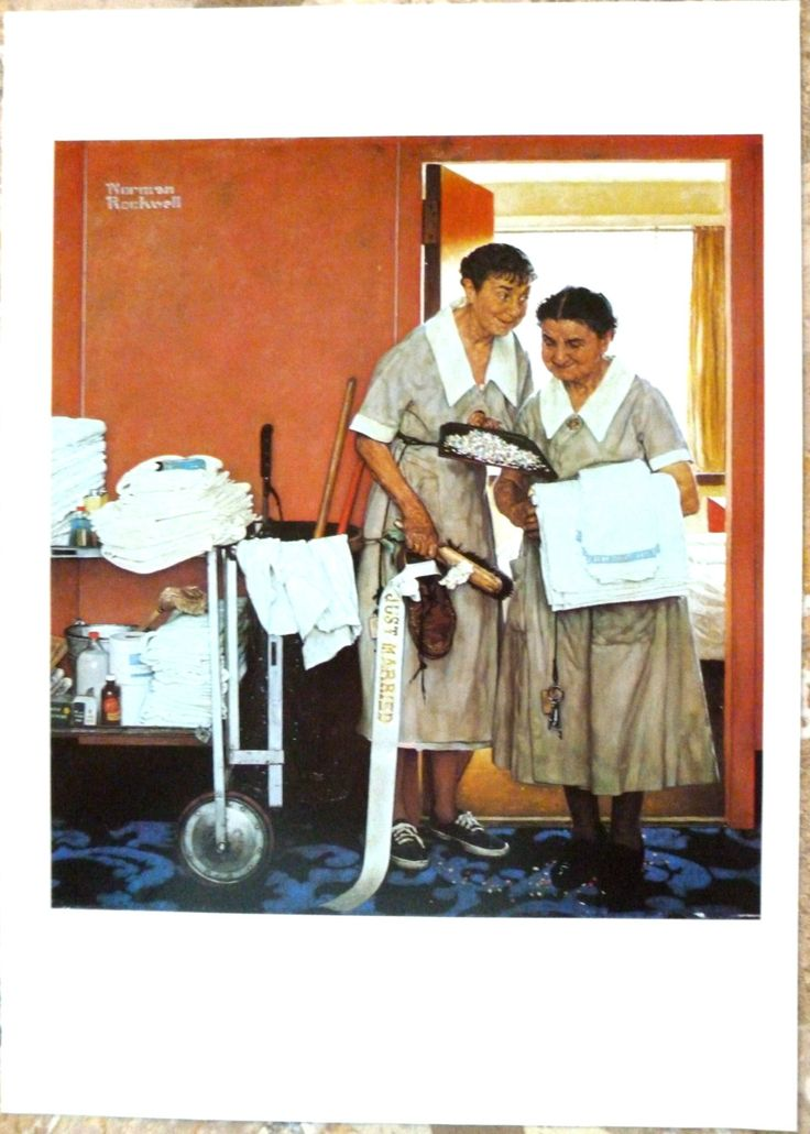 Norman Rockwell  Poster Morning After Poster 1957 from The Best of Norman Rockwell  Poster to Frame 1970's Poster