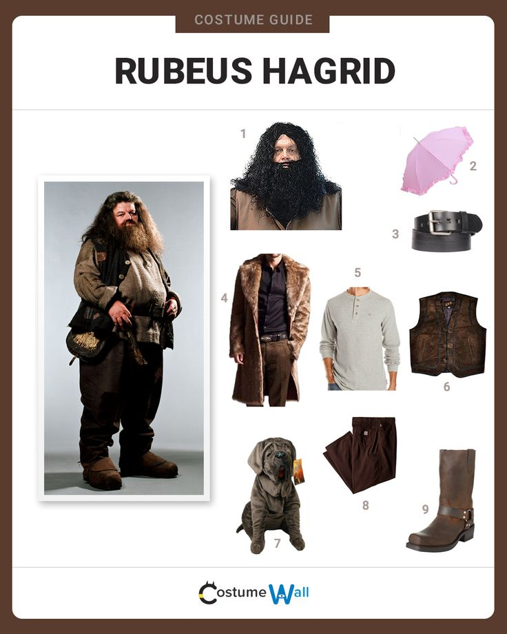 The only wizard without a wand in the Harry Potter Series, Rubeus Hagrid is a soft-hearted giant perfect for cosplay.