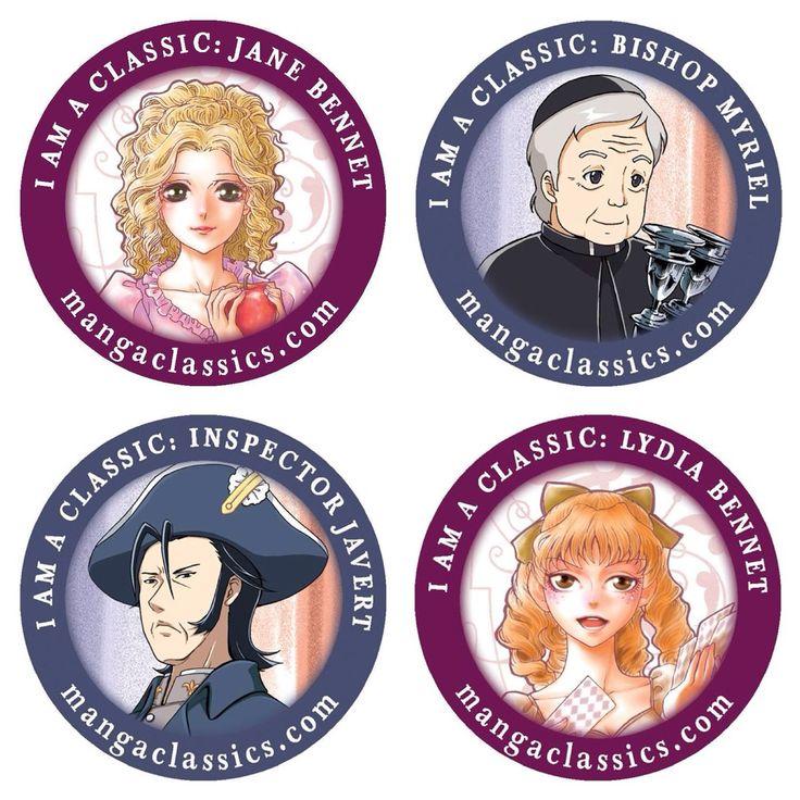 More avator icons of your favorite characters! #LesMiserable #LesMiz #LesMis #VictorHugo #InspectorJavert #BishopMyriel #PrideAndPrejudice #PnP #JaneAustin #LydiaBennet #JaneBennet #mangaclassics