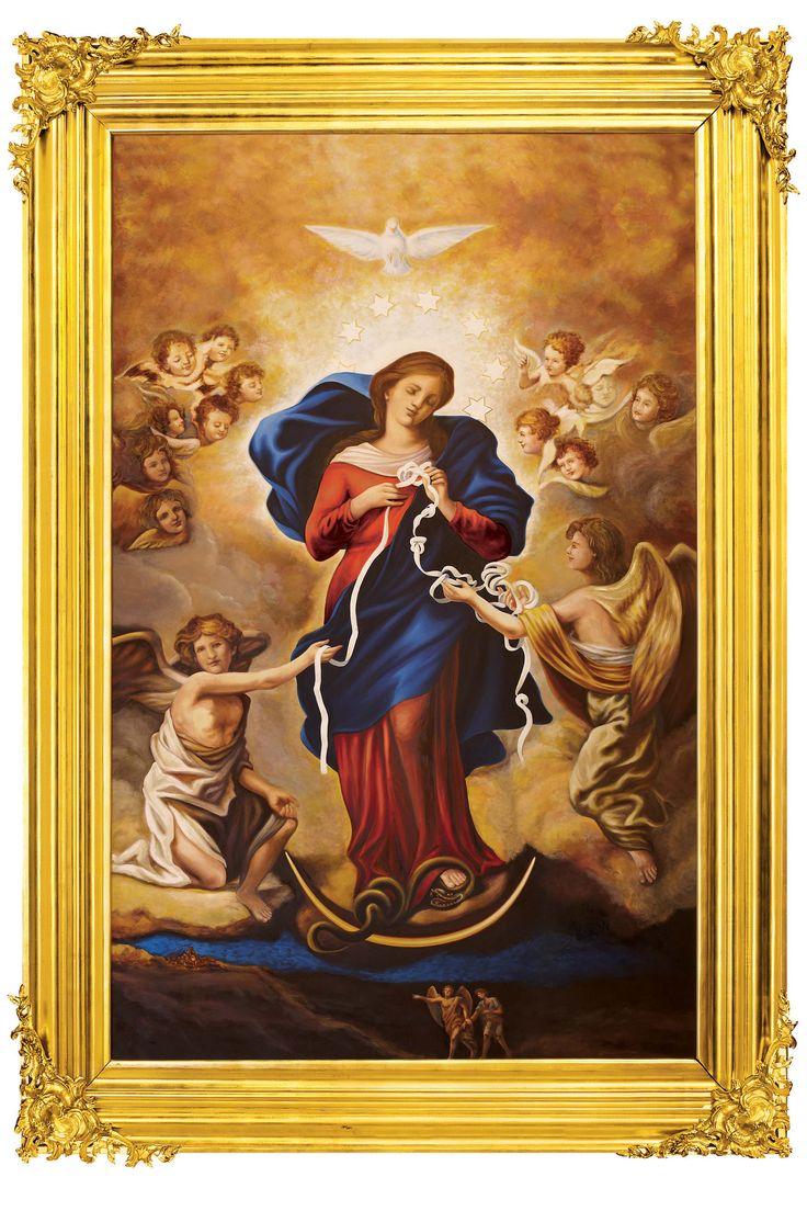 Chapelle à Notre Dame qui défait les noeuds - Tout à Jésus par Marie - Comment prier Marie qui défait les nœuds -http://www.mariedenazareth.com/qui-est-marie/comment-prier-marie-qui-defait-les-noeuds